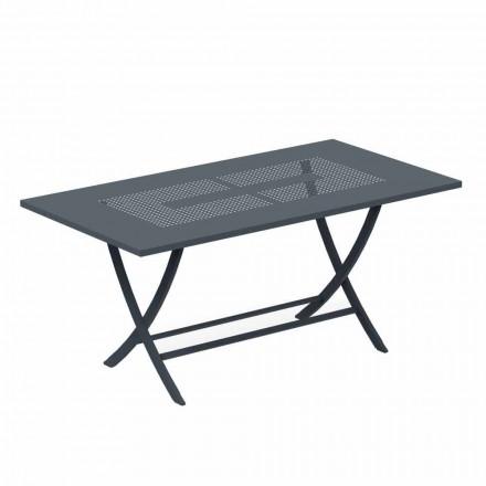 Składany stół ogrodowy z nowoczesnego malowanego metalu Made in Italy - Doria