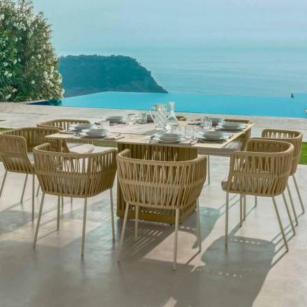 Kwadratowy stół Cliff 150cm, aluminiowy Talenti firmy Palomba