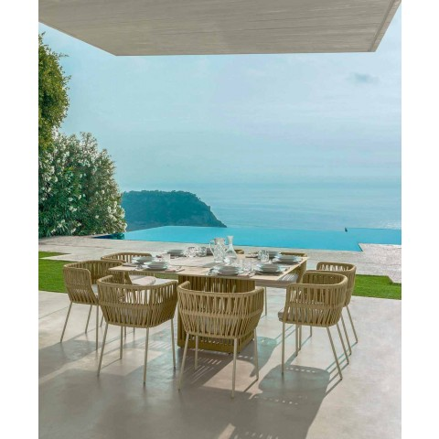 Aluminiowy kwadratowy stół ogrodowy Cliff Talenti 150 cm marki Palomba