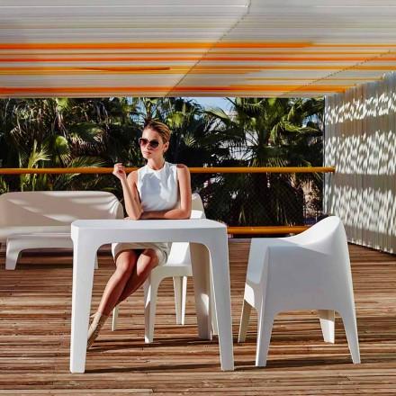 Stolik kwadratowy Solid firmy Vondom z polipropylenu, nowoczesny design, 4 sztuk