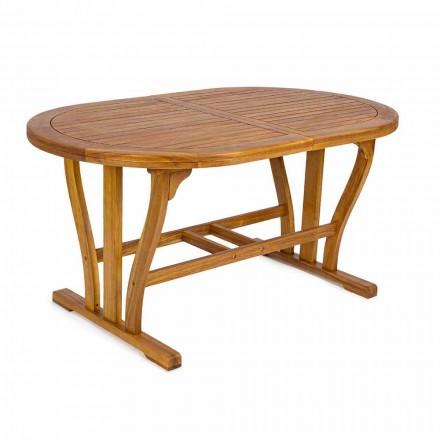 Rozkładany stół ogrodowy do 200 cm owalny w drewnie - Roxen