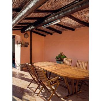 Stół ogrodowy rozkładany na zewnątrz Klasyczny owalny design z drewna - Roxen