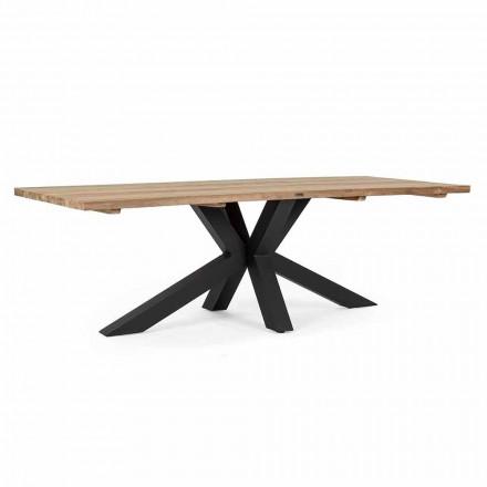Stół ogrodowy z blatem z drewna tekowego Homemotion - Cowen Design