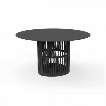 Aluminiowy okrągły stół ogrodowy Cliff Talenti, projekt Palomba