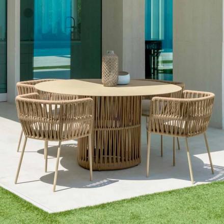 Okrągły stół ogrodowy Cliff firmy Talenti, z aluminium, zaprojektowany przez Palombę