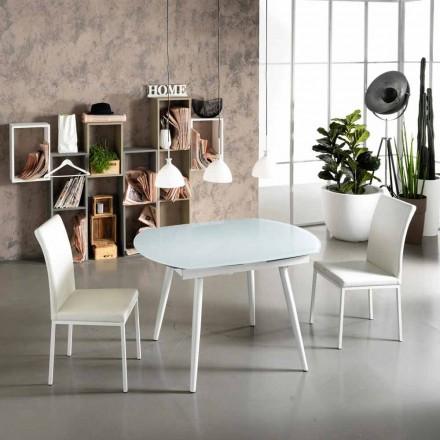 Stół rozkładany z szklanym blatem Japan New
