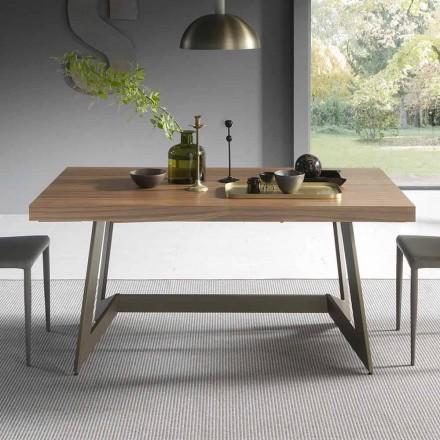 Stół rozkładany do 160 cm z drewna Made in Italy - Eugenia