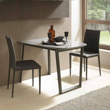 Stół rozkładany do 170 cm z ceramiki Wyprodukowano we Włoszech - Tremiti