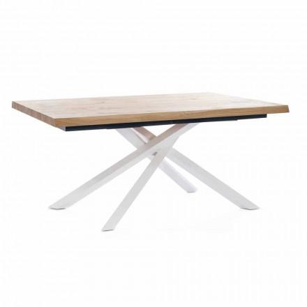 Stół rozkładany do 240 cm z drewna Made in Italy - Xino