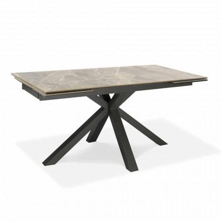 Stół rozkładany do 240 cm z metalu i ceramiki - Laryssa