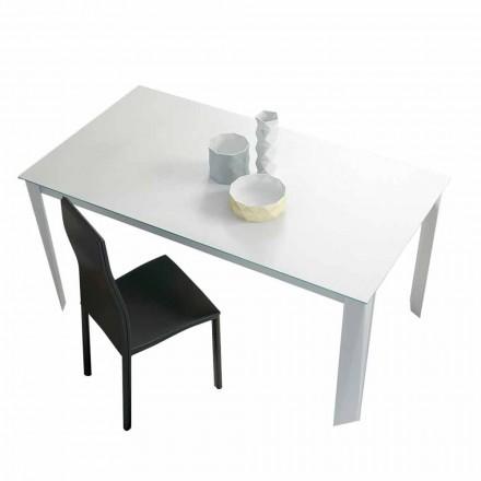 Stół rozkładany do 250 cm z matowego szkła Made in Italy - Namiba