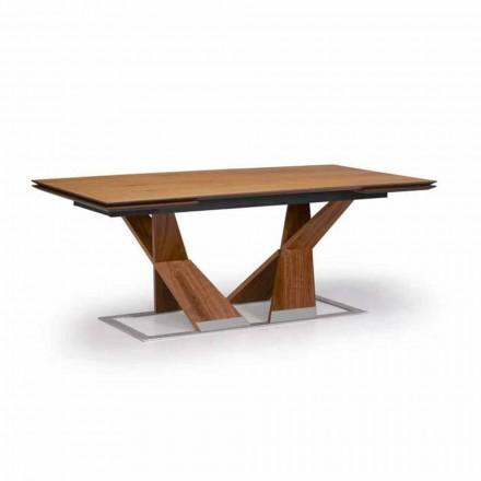 Stół rozkładany do 294 cm z drewna Made in Italy - Monique