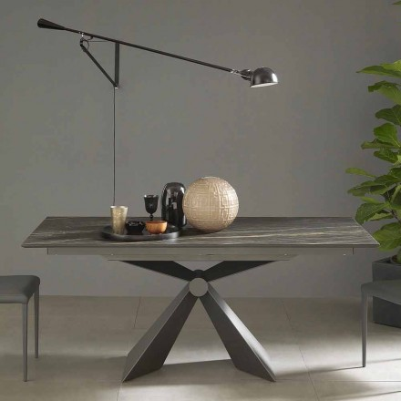 Stół rozkładany do 298 cm z ceramiki Wyprodukowano we Włoszech - Anaconda