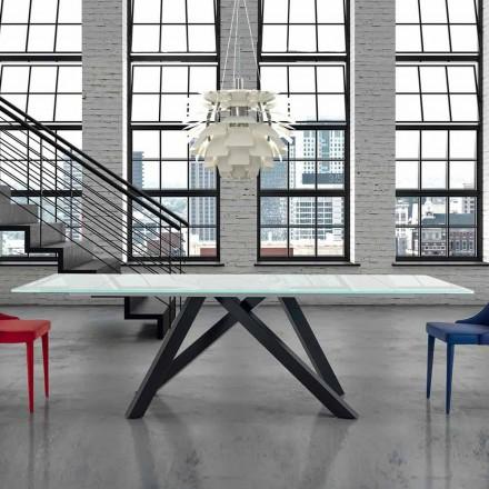 Wysuwany szklany stół do 300 cm Made in Italy - Settimmio