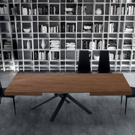 Stół rozkładany do 310 cm z drewna i stali - Argentario