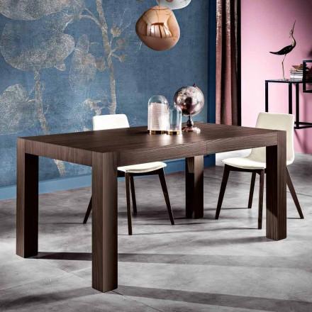 Rozkładany stół jadalny z drewna melaminowego wyprodukowany we Włoszech, Oky