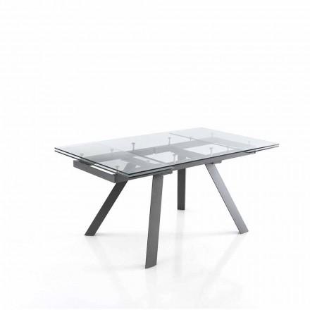 Stół rozkładany do 240 cm w szkle - Basilea