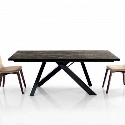 Wysuwany stół jadalny z ceramiki szklanej produkowany we Włoszech, Wilmer