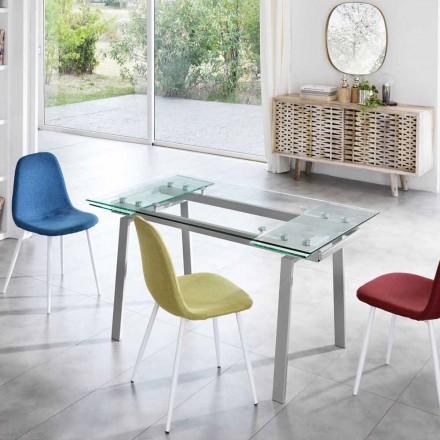 Nowoczesny rozkładany stół do jadalni, L140 / 200x P80 cm, Nardo