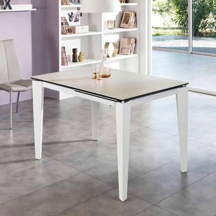 Wysuwany stół ze szkła ceramicznego, 120 / 170xP80 cm, Bino