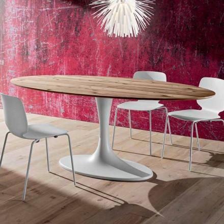 Wielowarstwowy stół do jadalni z owalnym blatem Made in Italy - Brontolo