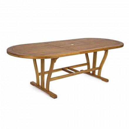 Rozkładany stół do jadalni na zewnątrz do 240 cm z drewna - Kaley
