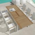 Stół rozkładany obiadowy z drewna teak design Timber