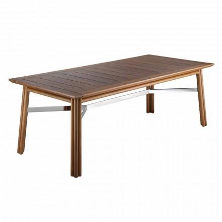 Stół ogrodowy z naturalnego lub czarnego drewna, włoski luksus - Suzana