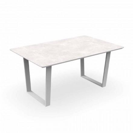 Nowoczesny stół ogrodowy aluminiowy i Gres - Alabama Alu Talenti