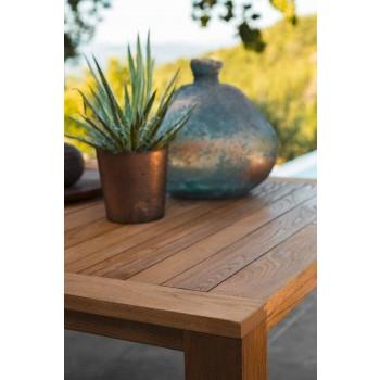 Nowoczesny stół ogrodowy z drewna kasztanowego - Ebi firmy Talenti