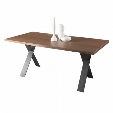 Zaprojektuj stół do jadalni z blatem z drewna dębowego lub orzechowego Made in Italy - Lucas