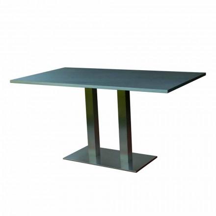 Stół designerski z laminowanym blatem, 160x90cm, Newman