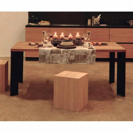 Stół do jadalni o naturalnym deseniu, L200xP100cm, Yvonne