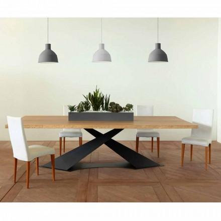 Nowoczesny stół jadalny z Elliotem wykonany we włoskim dębowym blacie