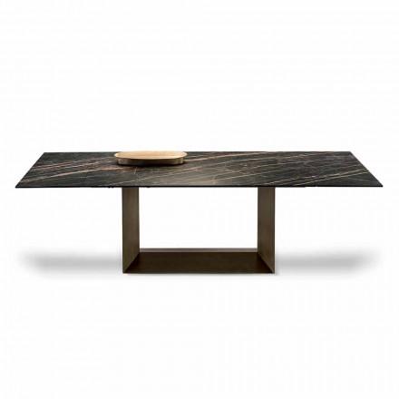 Wysuwany stół z ceramiki i metalu Made in Italy - Dark Brown
