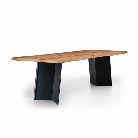 Zaprojektuj stół do jadalni z blatem z dębu wiązanego Made in Italy - Simeone