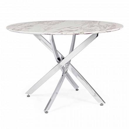 Zaprojektuj stół do jadalni z okrągłym blatem w Mdf Homemotion - Gregory