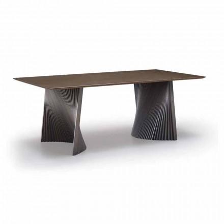 Wysokiej jakości stół do jadalni z gresu i jesionu Made in Italy - Charol