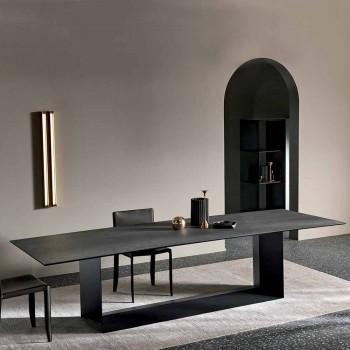 Ceramiczny stół jadalny w kolorze antracytowym Savoy Made in Italy - Dark Brown