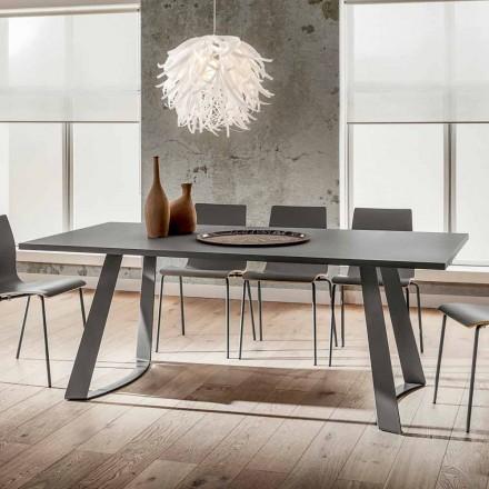 Stół do jadalni z Fenix i metalu Wykonany we Włoszech, luksusowy - Pinokio