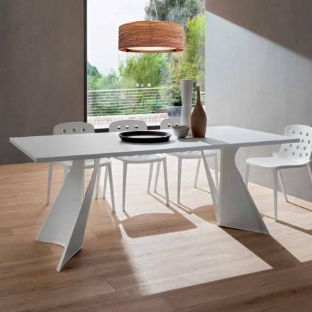 Stół do jadalni z Fenix i malowanego metalu Made in Italy - Dotto