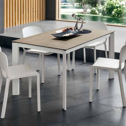 Stół do jadalni Laminam z aluminiową konstrukcją Made in Italy - Bavaria