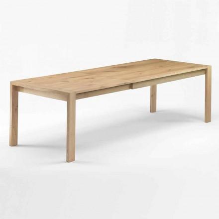 Rozkładany drewniany stół do jadalni do 340 cm Made in Italy - Willow