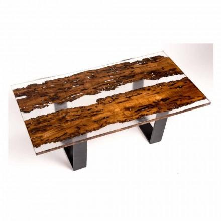 Stół jadalny w drewnie Giuda i ręcznie robiony bricola
