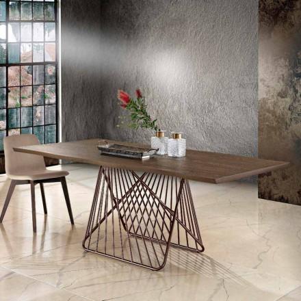 Nowoczesny stół jadalny z litego drewna produkowany we Włoszech