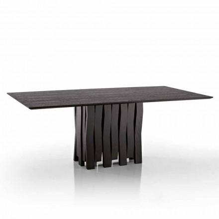 Stół do jadalni w drewnie MDF wykonany we Włoszech, Egisto