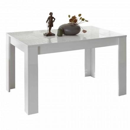 Stół do jadalni z melaminy, rozkładany do 185 cm Made in Italy - Aneta