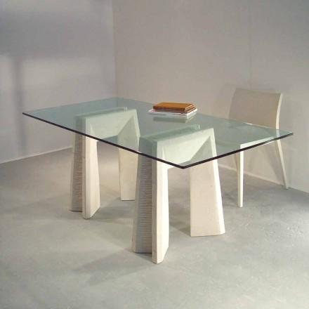 Stół z kamienia Vicenza Arianna, kryształowy blat