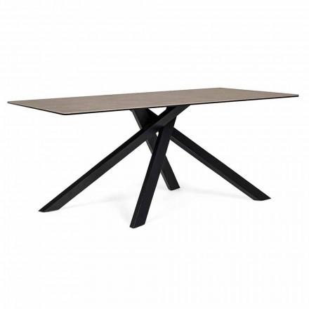 Nowoczesny stół do jadalni z ceramicznym i szklanym blatem Homemotion - Ringo