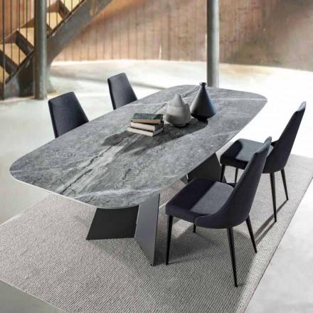Nowoczesny stół jadalny, blat z gresu porcelanowego - Meduno